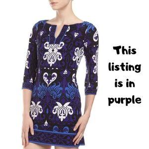 Laundry By Design Purple Floral split front Dress